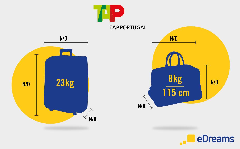 Medidas e peso de bagagem TAP