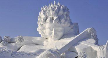 As mais impressionantes esculturas de neve