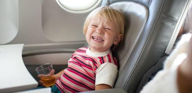 voar com crianças
