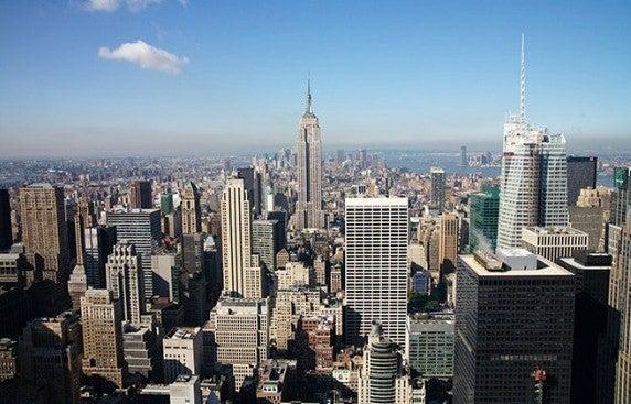vistas desde o Rockefeller Center