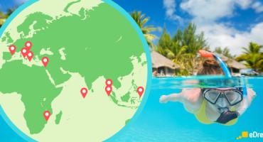 Os 20 melhores lugares do mundo para fazer snorkel