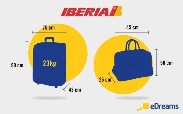 Medidas e peso de bagagem Iberia
