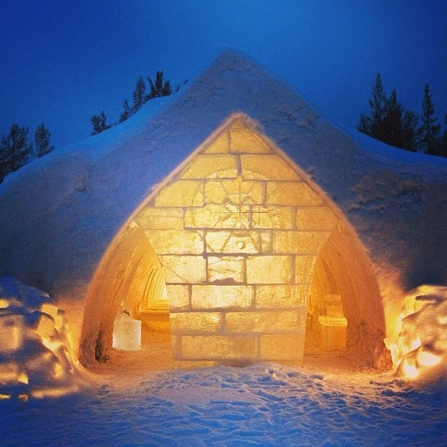 Iglú en el Arctic Snow Hotel, Rovaniemi, Laponia
