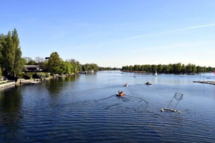 Alte Donau em viena - áustria