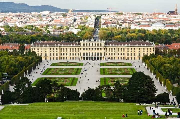 Palácio de Schönbrunn em viena - Áustria