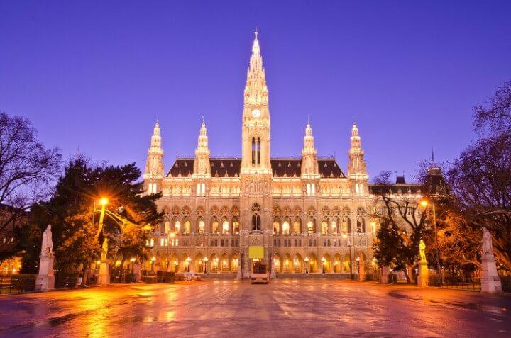 Rathaus em viena - áustria