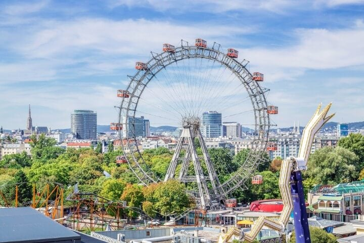Roda gigante em viena - áustria