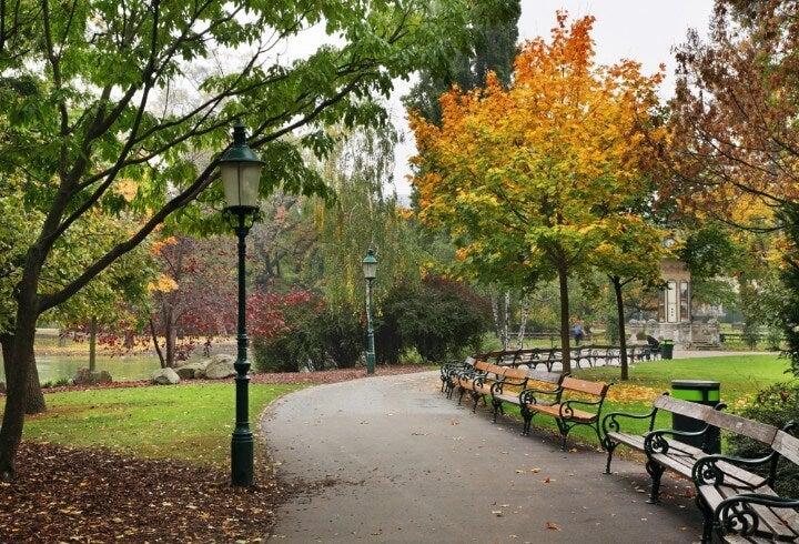 Stadt parque em viena - áustria