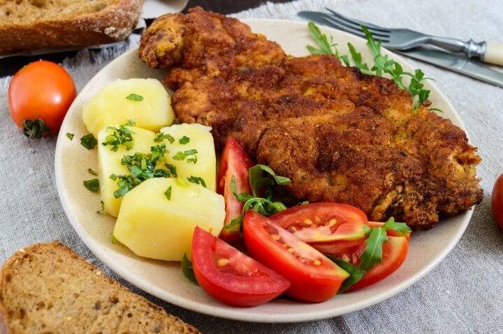 schnitzel de viena - áustria