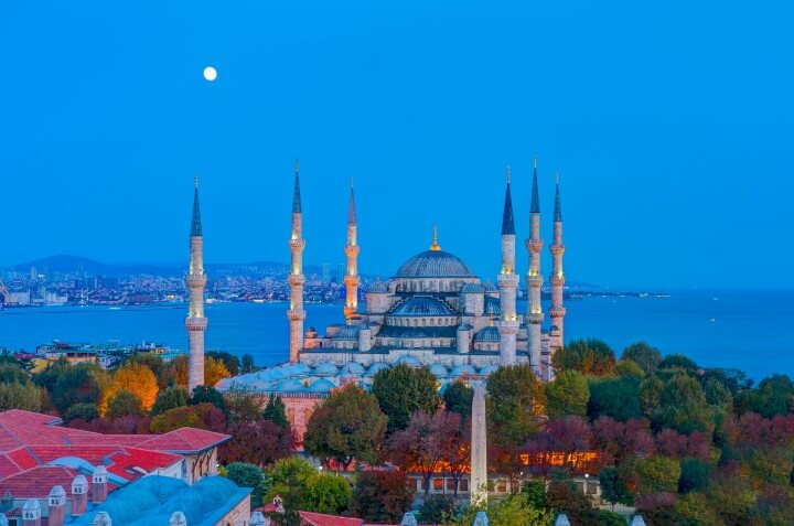mesquita azul em istambul - turquia