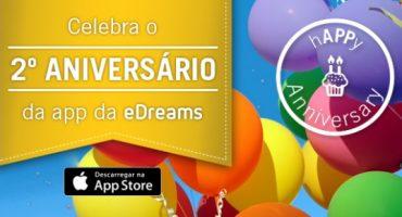 Celebra com prémios o 2º aniversário da App da eDreams