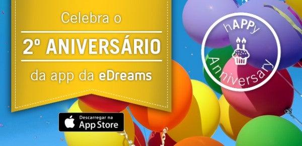 Aniversário da app para iPhone da eDreams