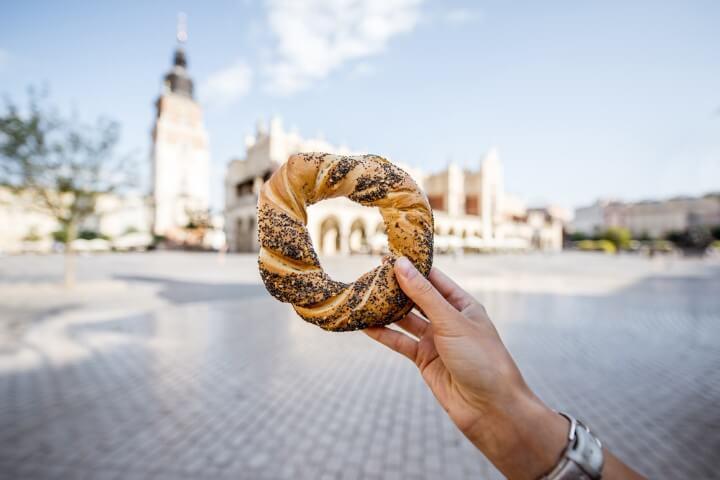 Obwarzanek donut - cracóvia - polónia