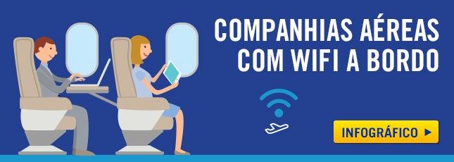 companhias aéreas com wifi