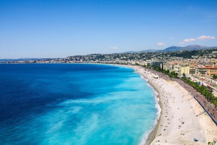 praia em Côte d'Azur em França