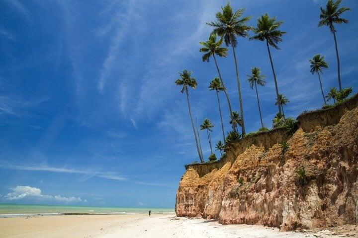 praia no Estado da Baía no Brasil