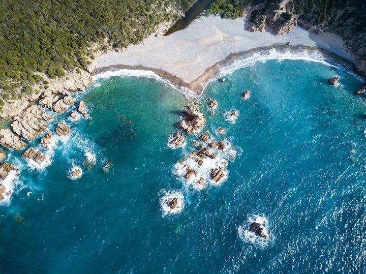 Costa Esmeralda em Sardenha, Itália