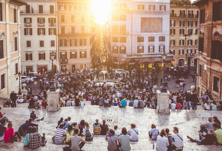 Praça de Espanha em roma