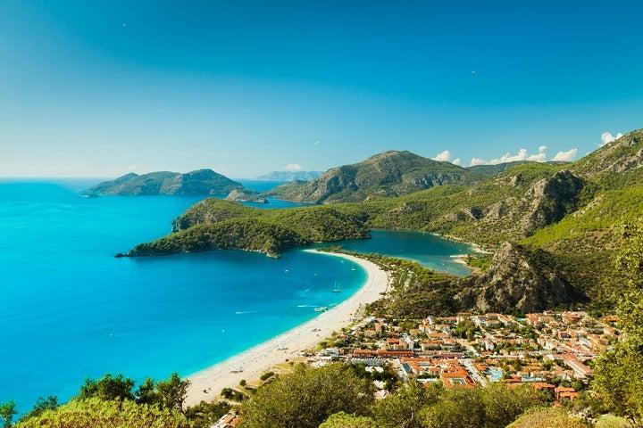 Praia Oludeniz na Turquia