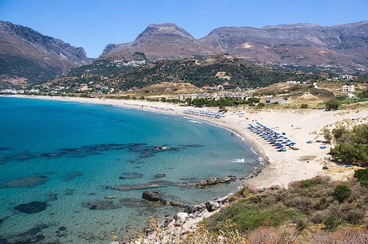 Praia Plakias em Creta, Grécia