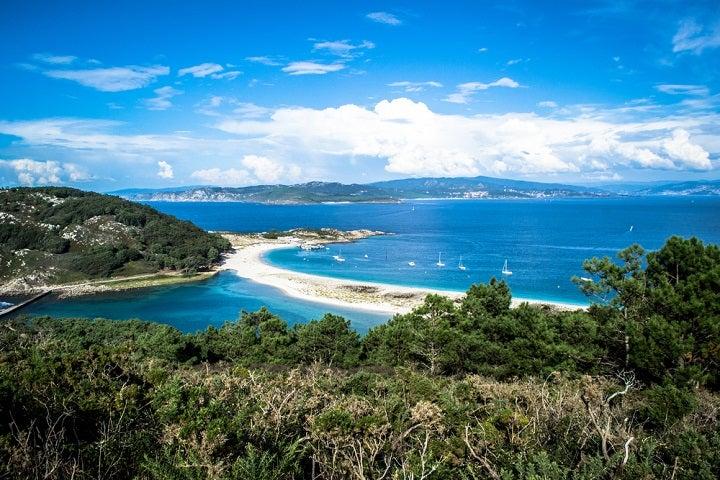 Praia das Ilhas de Cíes em Vigo, Espanha