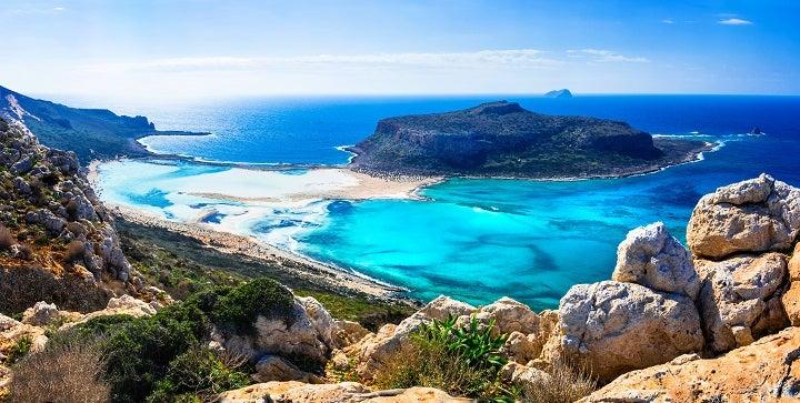 Praia de Balos em Creta, Grécia