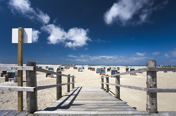 Praia de Sankt Peter Ording na Alemanha