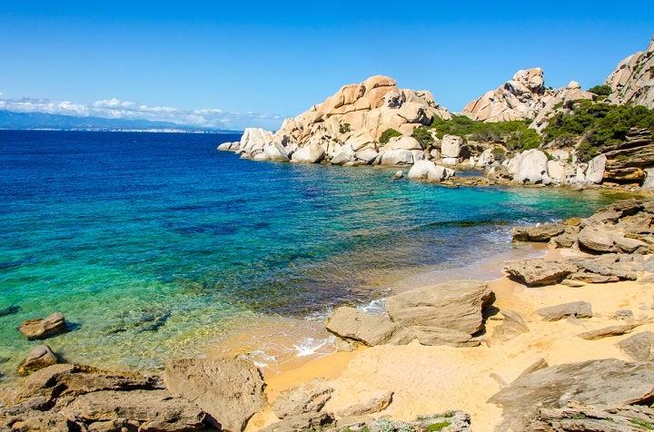 Praias Rena di levante e Rena di Ponente - Capo Testa em Sardenha, Itália