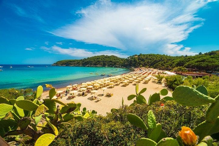 Praia de Fetovaia - Ilha de Elba, em Itália)
