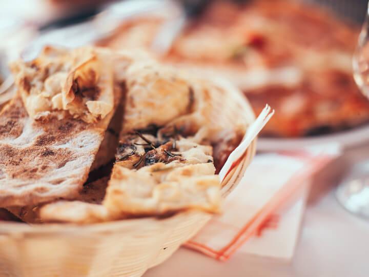 pão em azeite em roma