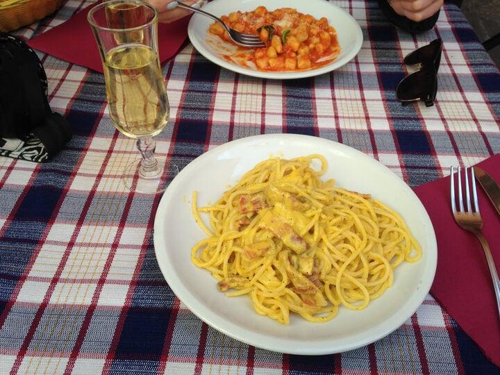 prato de massa fresca em roma