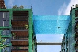Londres vai ter nova piscina suspensa entre dois edifícios