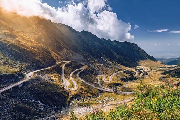 Transfagarasan romania - road