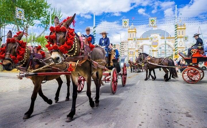 cavalos na feira de abril - sevilha