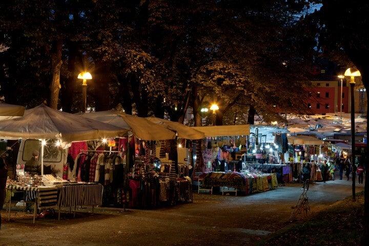 Mercado della Piazzola em bolonha itália