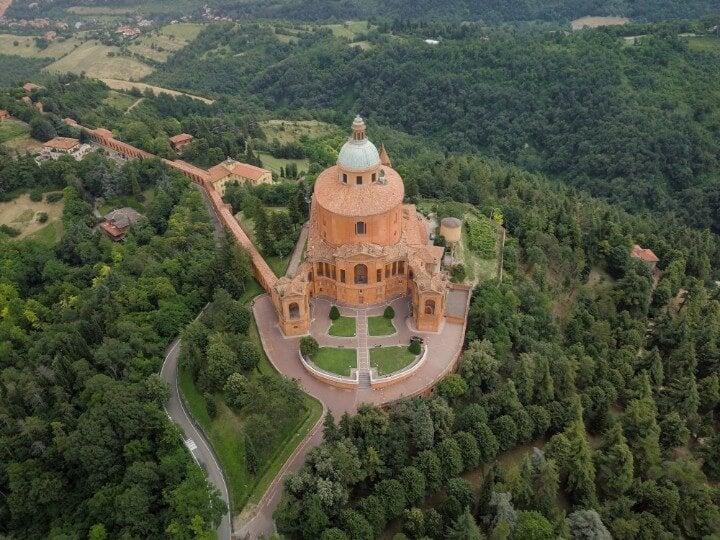 Santuário da Madonna di San Luca em bolonha itália