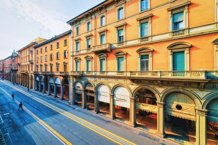 arcos portico em bolonha itália