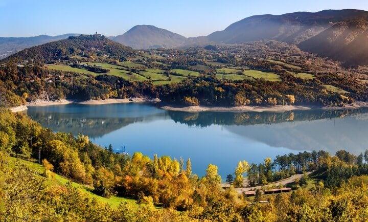 lago Suviana em bolonha itália