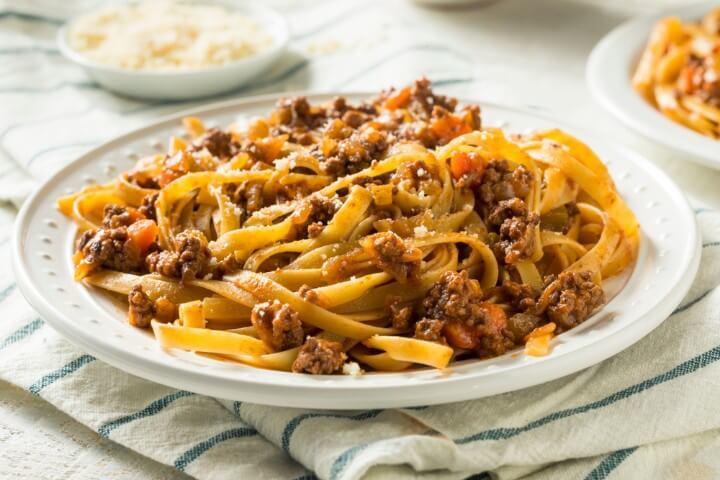 pasta al ragú em bolonha itália
