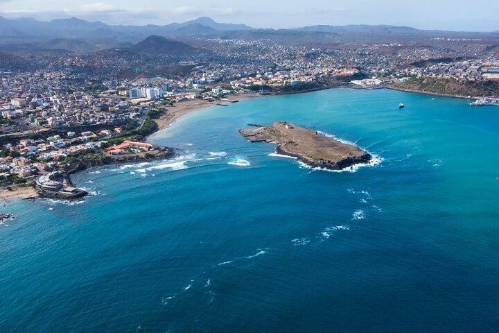 The sea of Praia, Cape Verde