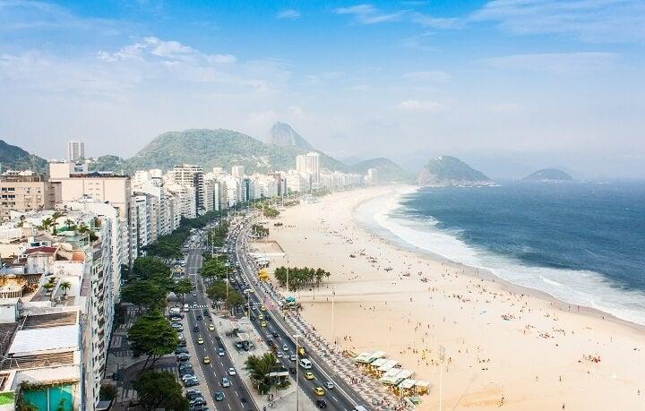 Beach of Rio de Janeiro, Brazil