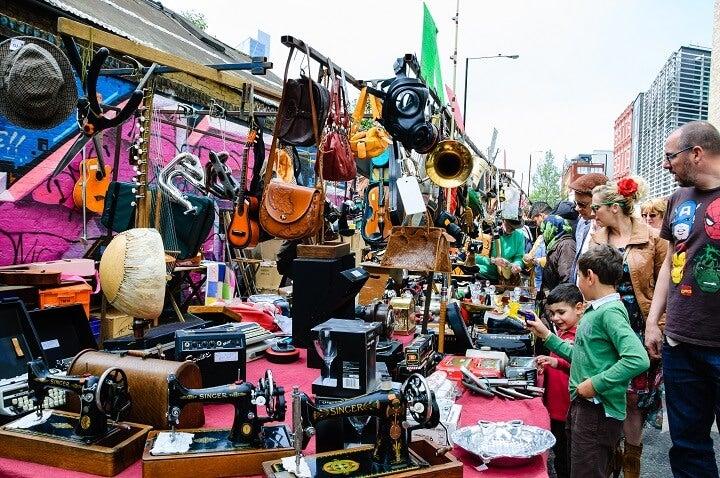 mercado Brick Lane em Londres