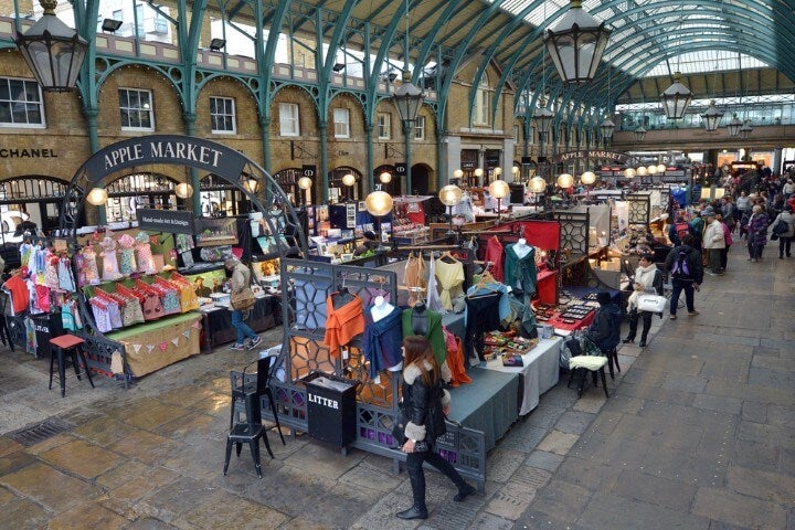 mercado em Covent Garden - Londres