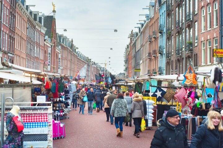 mercado Albert Cuyp em amesterdão - holanda