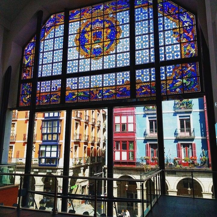 vitrais mercado de la Ribera bilbao