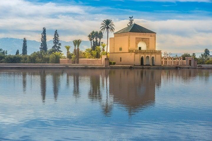 Jardines de Menara en Marruecos
