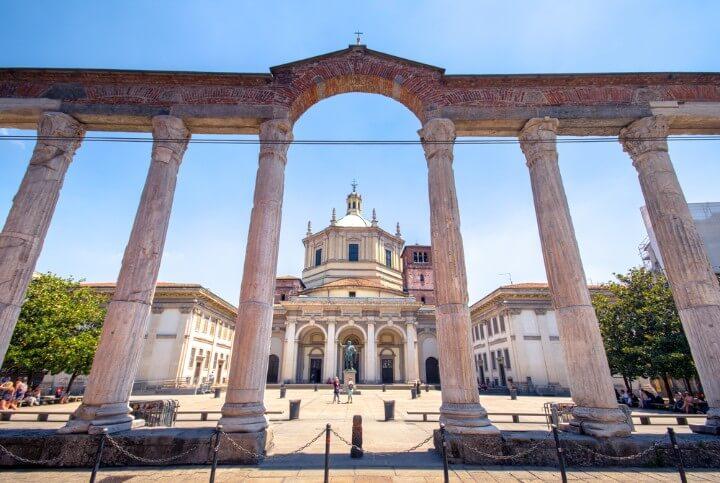 Colunas de San Lorenzo em milão - itlália