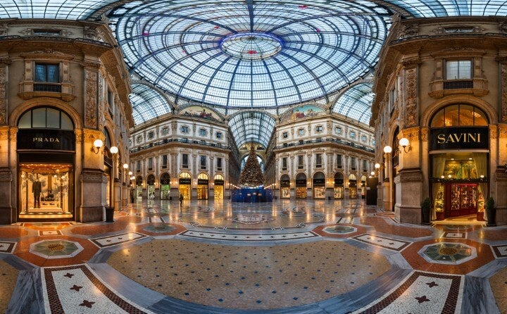 Galleria Vittorio Emanuele II em milão - itália