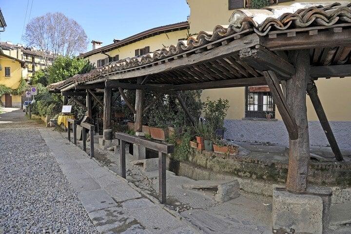 Vicolo dei Lavandai em milão - itália