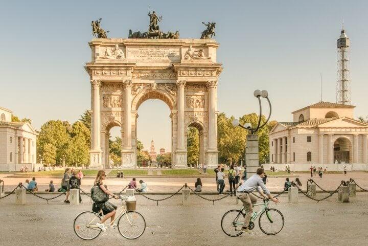 arco da paz em milão - itália
